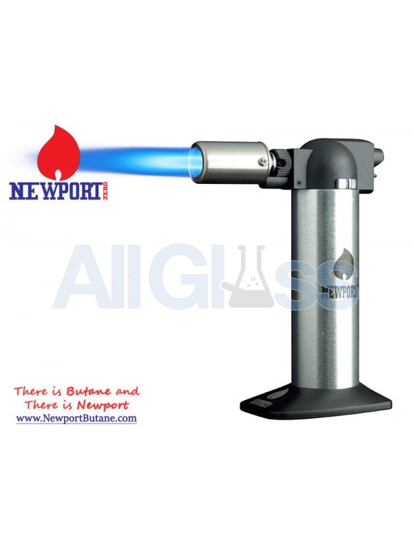 "Newport Zero 6"" Regular Torch - Silver , Smoking Accessory - Newport Butane, AllGlass.com"