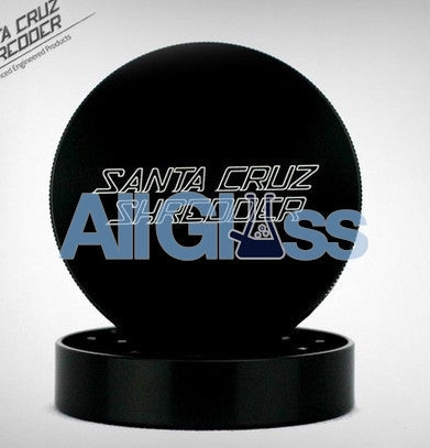 Santa Cruz Shredder Large 2-Piece Grinder - Black , Smoking Accessory - SantaCruzShredder, AllGlass.com
