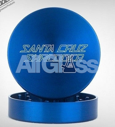 Santa Cruz Shredder Large 2-Piece Grinder - Blue , Smoking Accessory - SantaCruzShredder, AllGlass.com