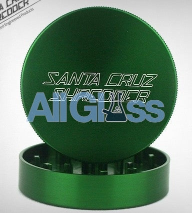 Santa Cruz Shredder Large 2-Piece Grinder - Green , Smoking Accessory - SantaCruzShredder, AllGlass.com