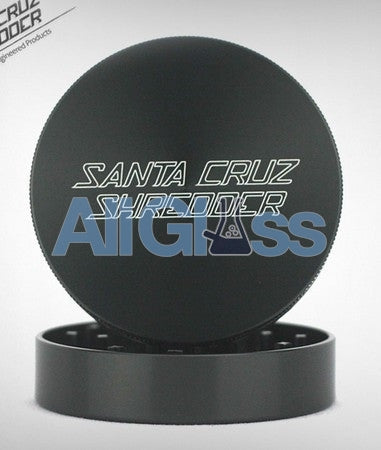 Santa Cruz Shredder Large 2-Piece Grinder - Gun Metal , Smoking Accessory - SantaCruzShredder, AllGlass.com