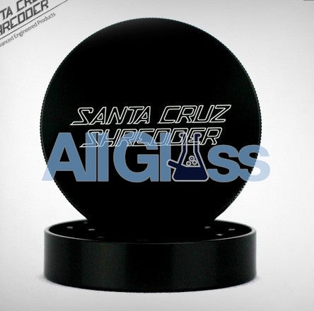 Santa Cruz Shredder Large 2-Piece Grinder - Matte Black , Smoking Accessory - SantaCruzShredder, AllGlass.com