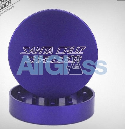 Santa Cruz Shredder Large 2-Piece Grinder - Matte Purple , Smoking Accessory - SantaCruzShredder, AllGlass.com