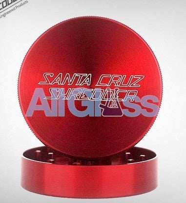 Santa Cruz Shredder Large 2-Piece Grinder - Red , Smoking Accessory - SantaCruzShredder, AllGlass.com
