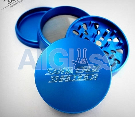 Santa Cruz Shredder Large 4-piece Grinder - Blue , Smoking Accessory - SantaCruzShredder, AllGlass.com