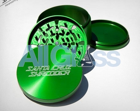 Santa Cruz Shredder Large 4-piece Grinder - Green , Smoking Accessory - SantaCruzShredder, AllGlass.com