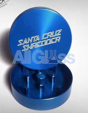 Santa Cruz Shredder Mini 2-piece - Blue , Smoking Accessory - SantaCruzShredder, AllGlass.com