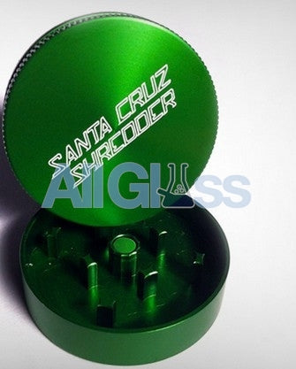 Santa Cruz Shredder Mini 2-piece - Green , Smoking Accessory - SantaCruzShredder, AllGlass.com