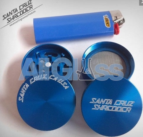 Santa Cruz Shredder Mini 4-piece - Blue , Smoking Accessory - SantaCruzShredder, AllGlass.com