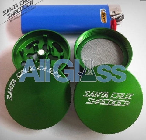 Santa Cruz Shredder Mini 4-piece - Green , Smoking Accessory - SantaCruzShredder, AllGlass.com