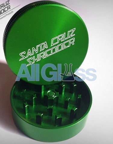 Santa Cruz Shredder Small 2-piece Grinder - Green , Smoking Accessory - SantaCruzShredder, AllGlass.com