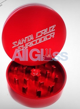 Santa Cruz Shredder Small 2-piece Grinder - Red , Smoking Accessory - SantaCruzShredder, AllGlass.com