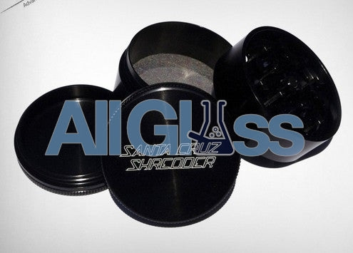 Santa Cruz Shredder Small 4 Piece Grinder - Black , Smoking Accessory - SantaCruzShredder, AllGlass.com