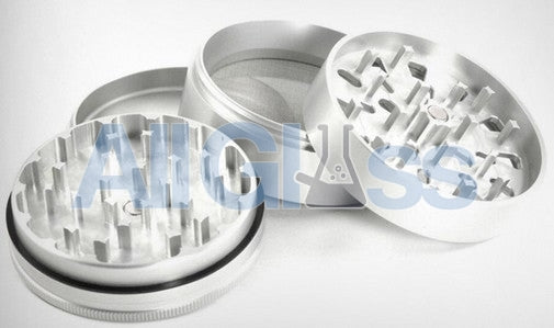 Santa Cruz Shredder Small 4 Piece Grinder - Silver , Smoking Accessory - SantaCruzShredder, AllGlass.com