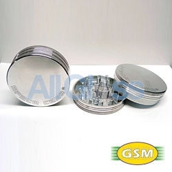 Space Case aluminum magnetic large - 2 part grinder , Smoking Accessory - GSM Distributing, AllGlass.com