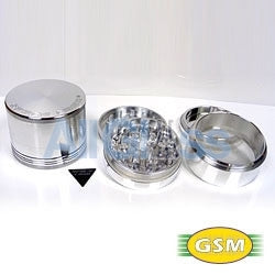 Space Case aluminum magnetic large - 4 part grinder sifter , Smoking Accessory - GSM Distributing, AllGlass.com