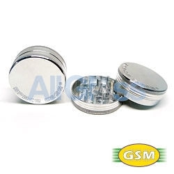 Space Case aluminum magnetic small - 2 part grinder , Smoking Accessory - GSM Distributing, AllGlass.com