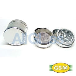 Space Case aluminum magnetic small - 4 part grinder sifter , Smoking Accessory - GSM Distributing, AllGlass.com