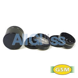 Space Case titanium magnetic small - 4 part grinder sifter , Smoking Accessory - GSM Distributing, AllGlass.com