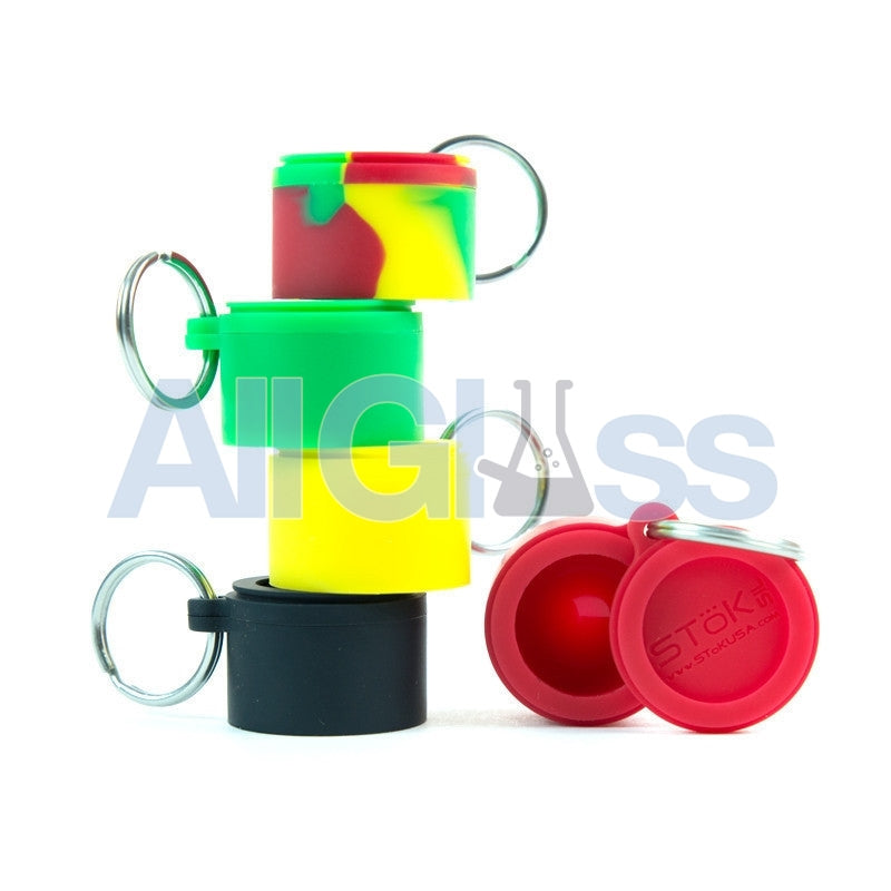 STOK Silicone Platinum Cured Keychain Jars , Smoking Accessory - Mandel, AllGlass.com