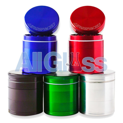 AEROSPACED 5 Piece Grinders / Sifters (Double Screen) , Vaporizer Accessories - VapeWorld, AllGlass.com