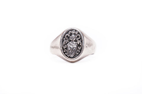 Shield Monogram Signet Ring