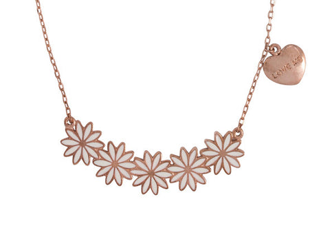 "Daisies ""Love me, Love Me Not"" Word Charm Statement Necklace"