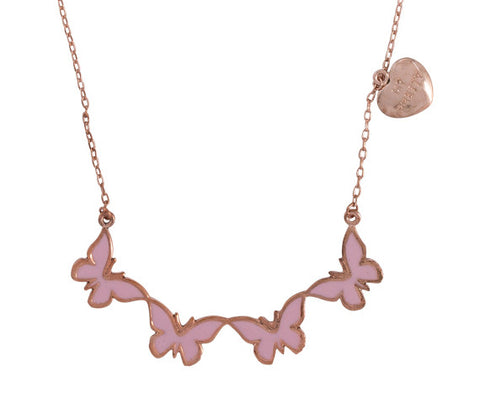"Butterly ""Fly My Pretty"" Word Charm Statement Necklace"