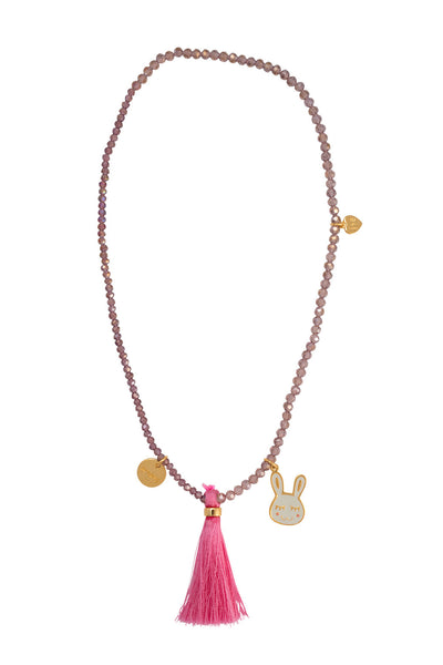 "Cute Bunny ""Adore Me"" Tassel necklace"