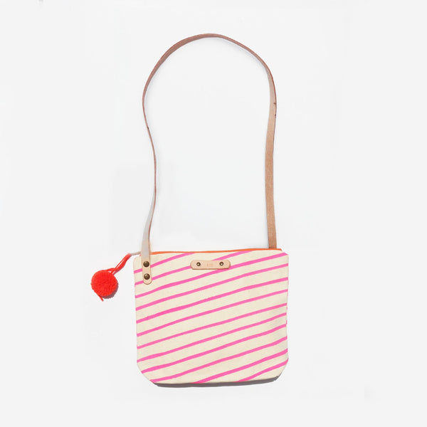 The Stripes and Stars Leather Strap Shoulder Bag