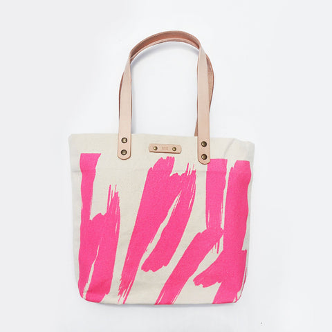 The Paint The Town Leather Strap Tote Love Bag