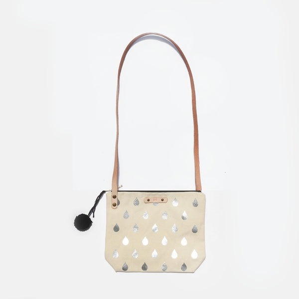The Raindrops and Rainbows Leather Strap Shoulder Bag