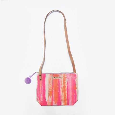 The Make A Splash Leather Strap Shoulder Bag