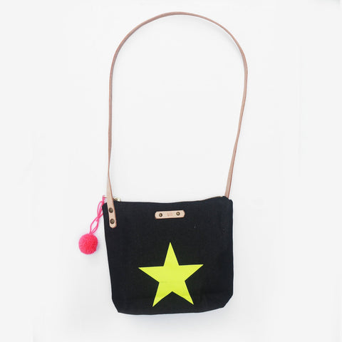 The Be A Star Denim Leather Strap Shoulder Bag