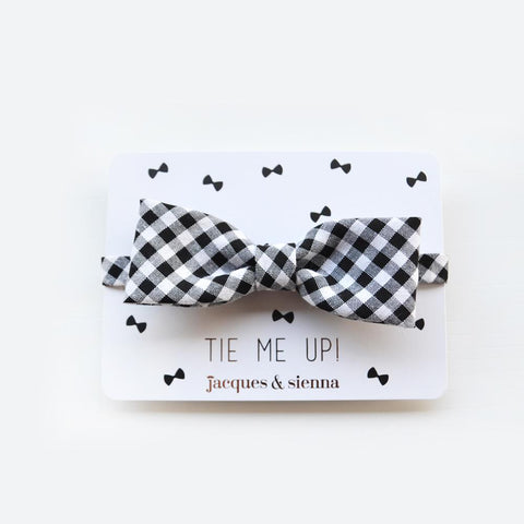 Gingham Boys bow ties by Jacques & Sienna