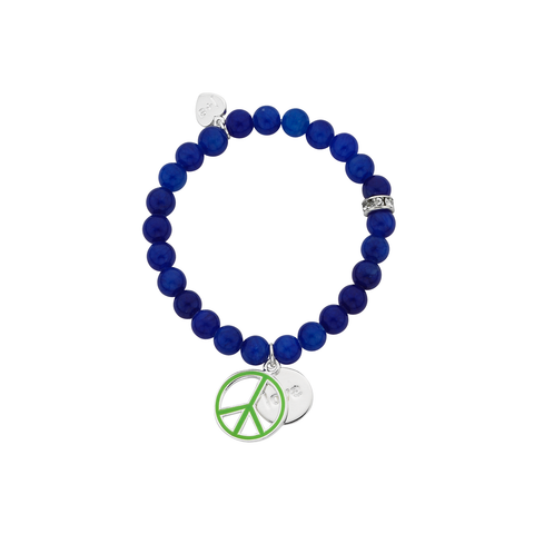 "Green Peace ""Love"" Word Charm Bracelet"