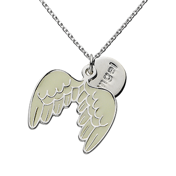 "Angel Wings ""Angel"" Word Charm Necklace"