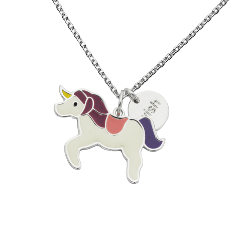 "Unicorn ""Wish"" Word Charm Necklace"