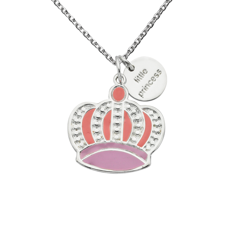 "Crown ""Little Princess"" Word Charm Necklace"