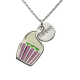 "Cupcake ""Sweet"" Word Charm Necklace"