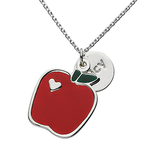"Apple ""Juicy"" Word Charm Chain Necklace"