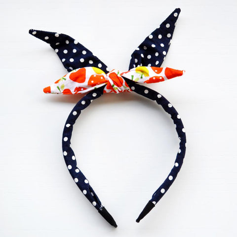 The Miss Greta Retro Bow Headband