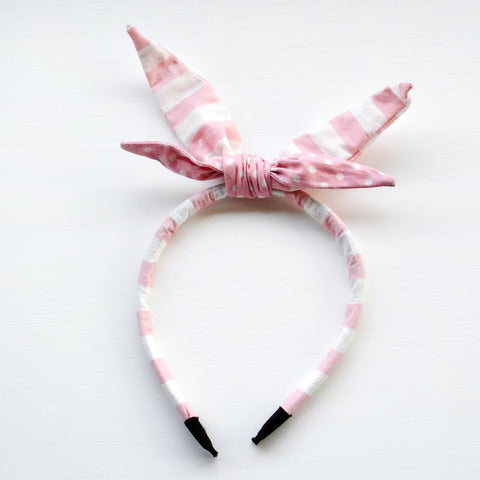 Pink headband for girls by Jacques & Sienna