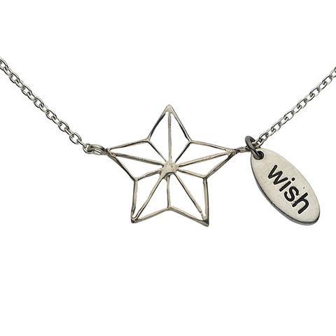 "Star ""Wish"" Sterling Silver Necklace"