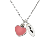 "Heart ""Love"" Sterling Silver Necklace"