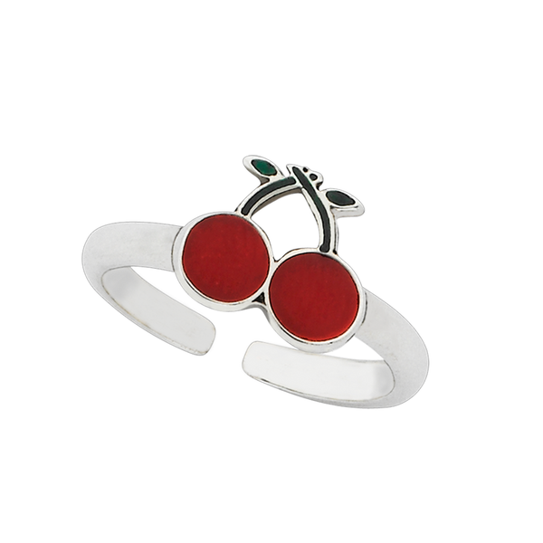 "Cherry ""Juicy"" Sterling Silver Ring"
