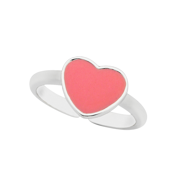 "Hearts ""Love"" Sterling Silver Ring"