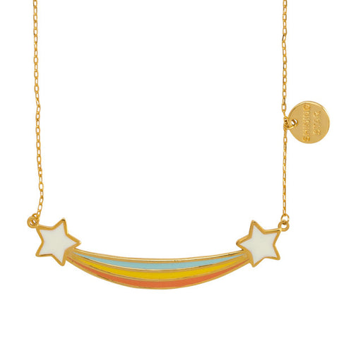 "Starburst ""Shining Star"" Word Charm Statement Necklace"