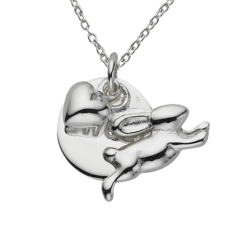 Sterling Silver Charm Necklace by Jacques and Sienna