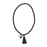 "Dove ""Free"" Word Charm Tassel Necklace"